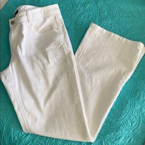 White House Black Market white jeans size 14
